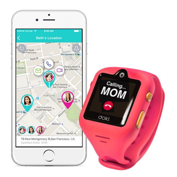 dokiWatch detské inteligentné hodinky s videotelefonem a GPS - Dazzle Pink