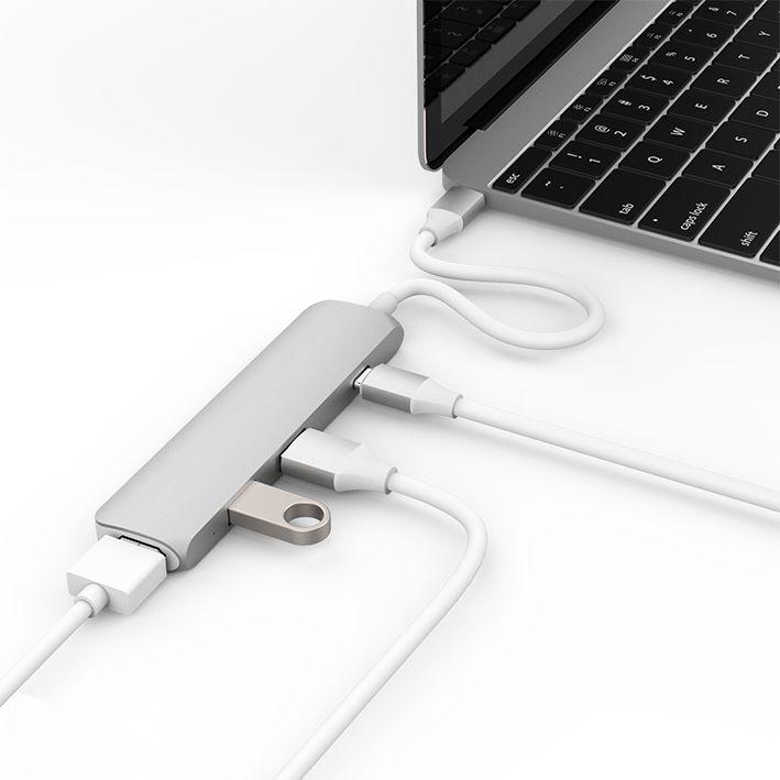 Hyper USB-C Hub s 4K HDMI - stříbrný