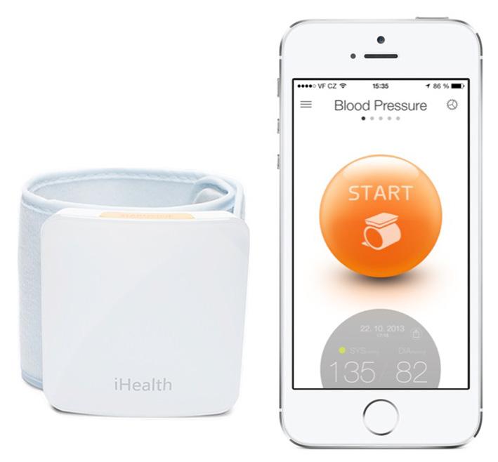 iHealth SENSE BP7 inteligentný zápestní meřič krevního tlaku
