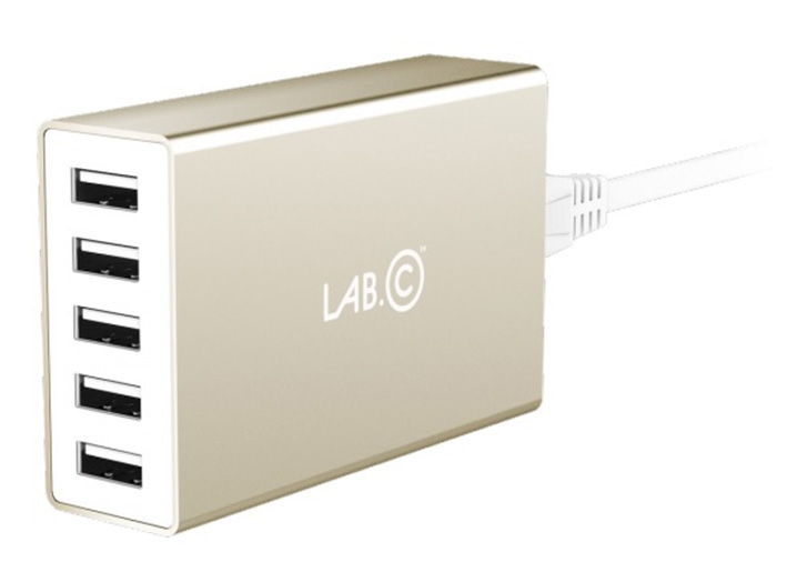 LAB.C X5 5Port USB Wall Charger - zlatý