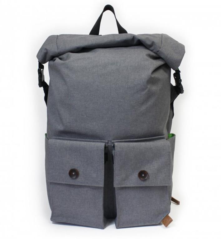 PKG DRI Rolltop Backpack - svetle šedý
