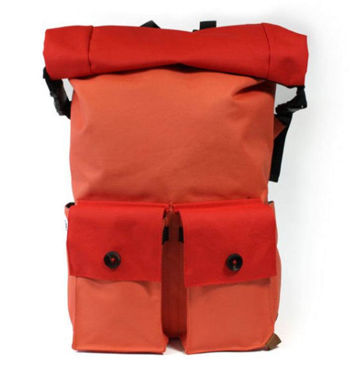 "PKG El Camino Rolltop Backpack pre MacBook 13"" a 15"" - oranžový"