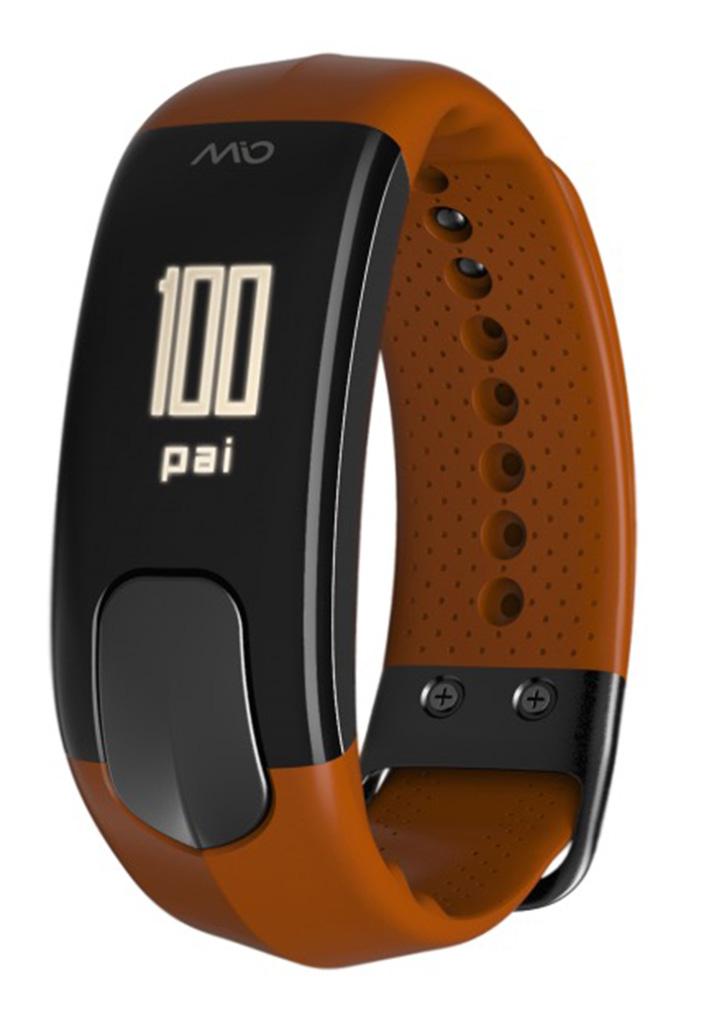 Mio SLICE celodenní meřič tepu a aktivity - krátký pásak - oranžový