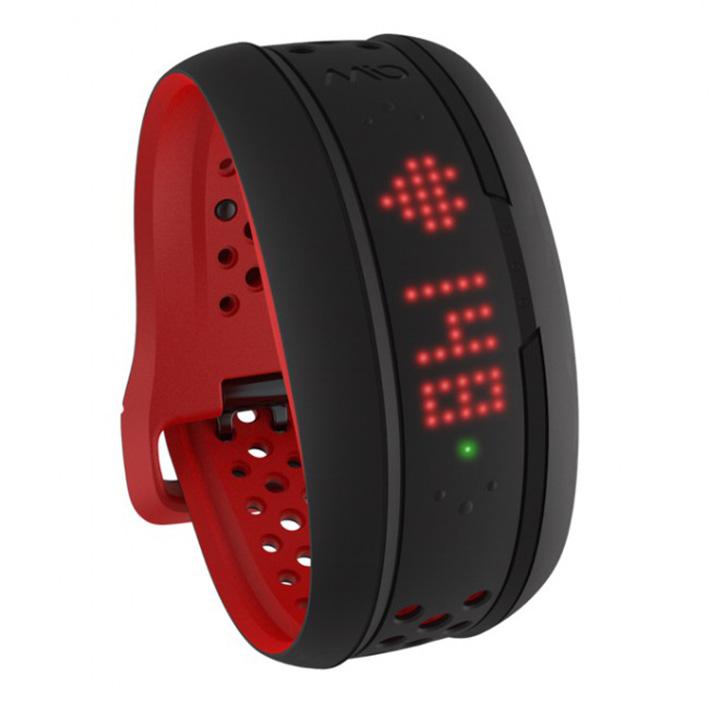 Mio FUSE senzor srdečnýho tepu, denní aktivity a spánku - dlouhý pásak - červený