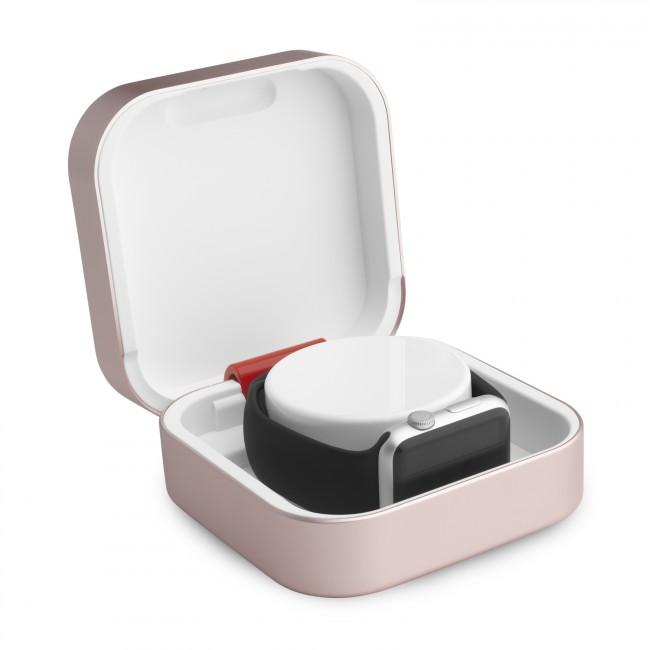 ClearGrass Amber cestovná púzdro a USB power banka pre Apple Watch - Rosa Gold