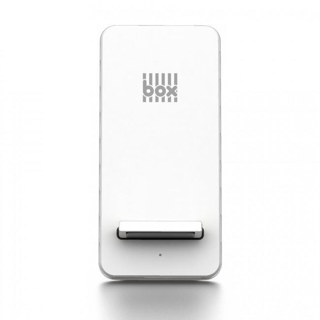 BOX Preducts QI Aluminium Wireless Charge Stand - Silver & White
