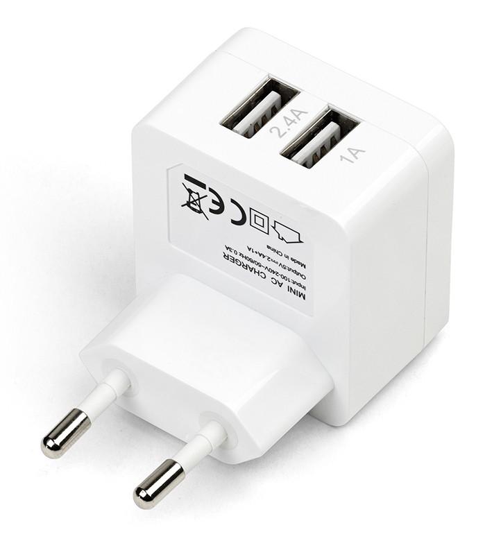 eSTUFF  Home Charger 2 USB 2.4A + 1A