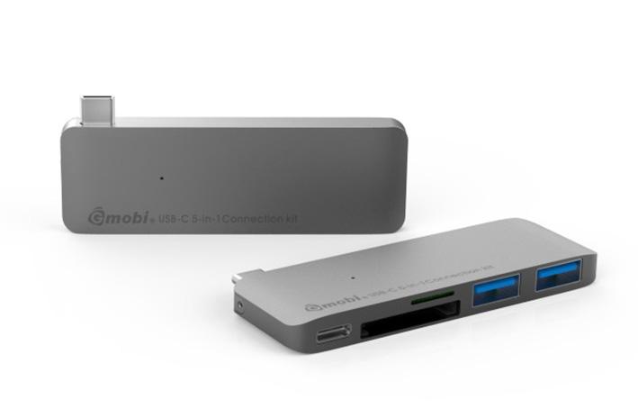 Gmobi Multi-port USB-C Hub - šedý