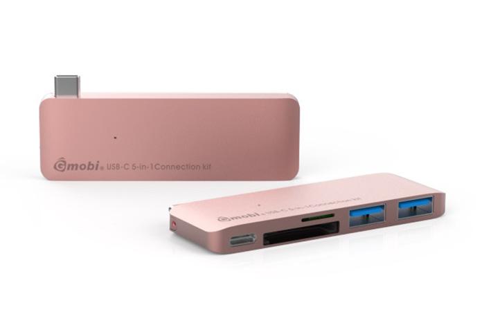 Gmobi Multi-port USB-C Hub - Rosa Gold