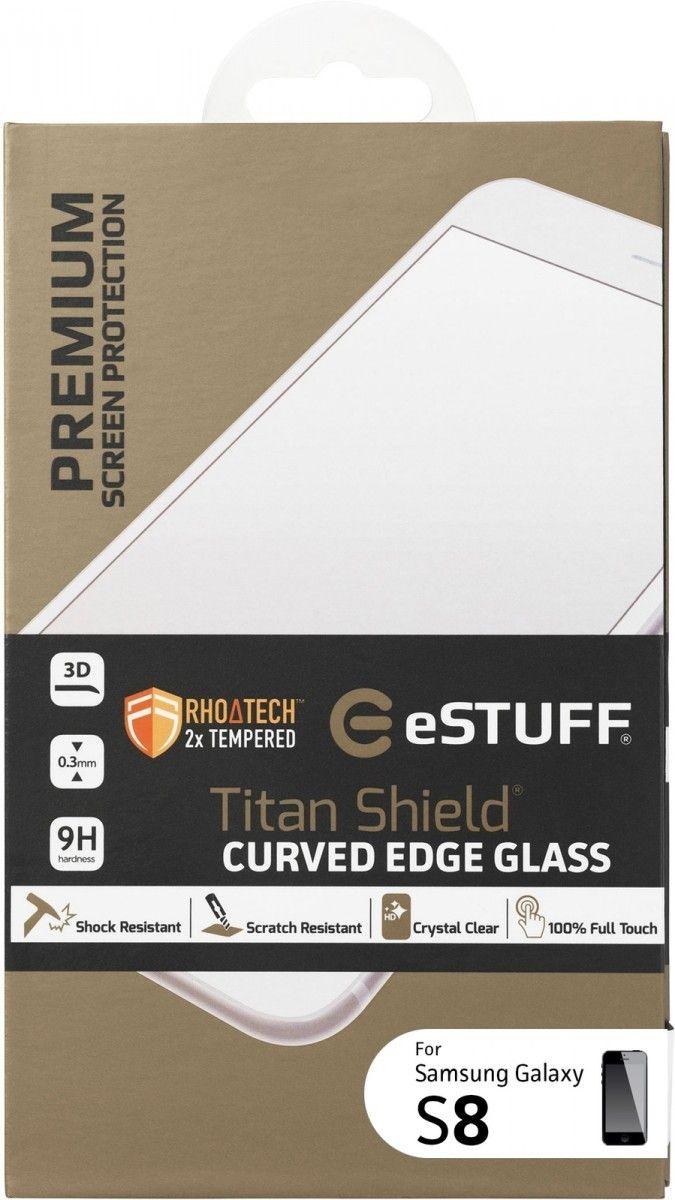 eSTUFF  ochranné sklo TitanShield 3D pre Samsung Galaxy S8 čierne