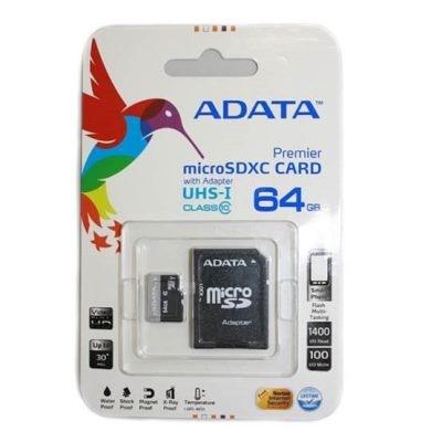 Pamäťová karta A-Data microSDXC 64GB class 10 + adaptér SDHC