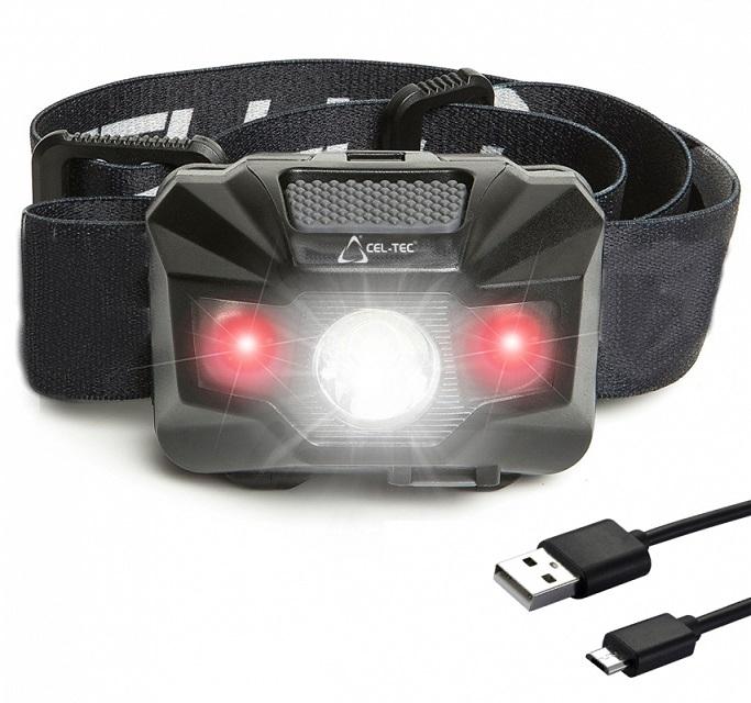 CEL-TEC nabíjací LED čelová baterka HL150R
