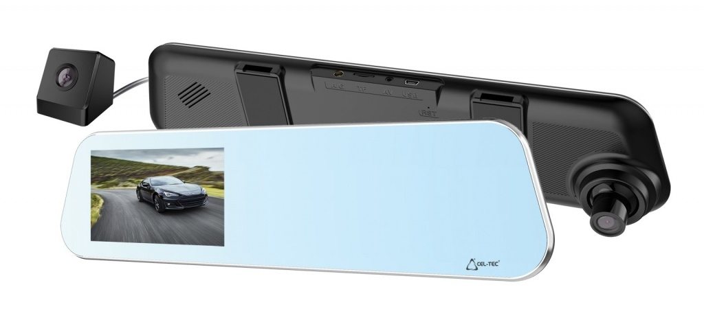 CEL-TEC kamera do auta ve zpetném zrcátku M5 Dual Touch