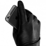 MUJJO Kožené dotykové rukavice - veľkosť 9 - čierne