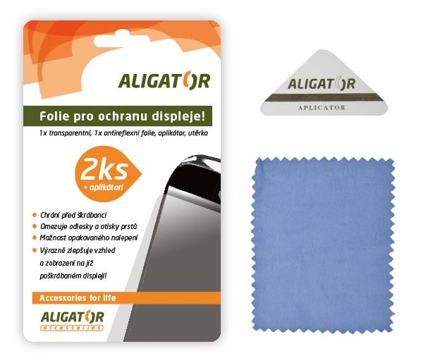 Nová ochranná fólia ALIGATOR HTC Sensation, 2ks + aplikátor