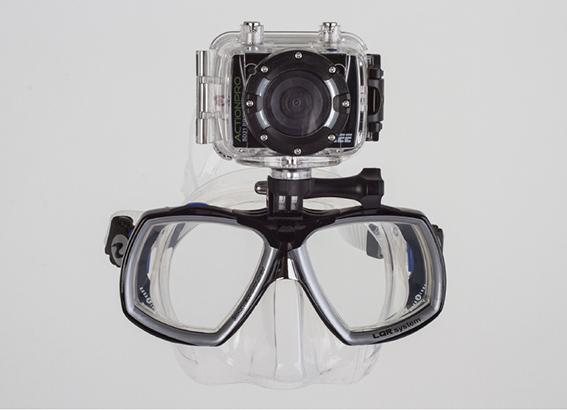 Držiak a potápěčská maska Aqualung Look2 s adaptérom pre kamery GoPro, Actionpre