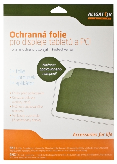 Nová ochranná fólia ALIGATOR pre Tablet 7 (153x92mm) antireflexná, univerzálny s mřížkou, 1ks + aplikátor