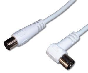 Anténní koaxiální kábel predlužovací, 75 Ohm, IEC, M-F, lomený 2m