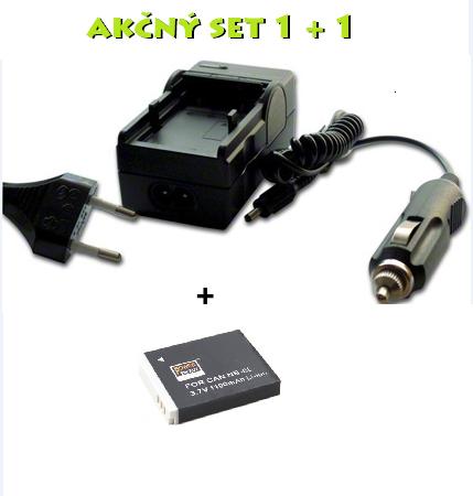 Akčný set: Nabíjačka + batéria NB-6L