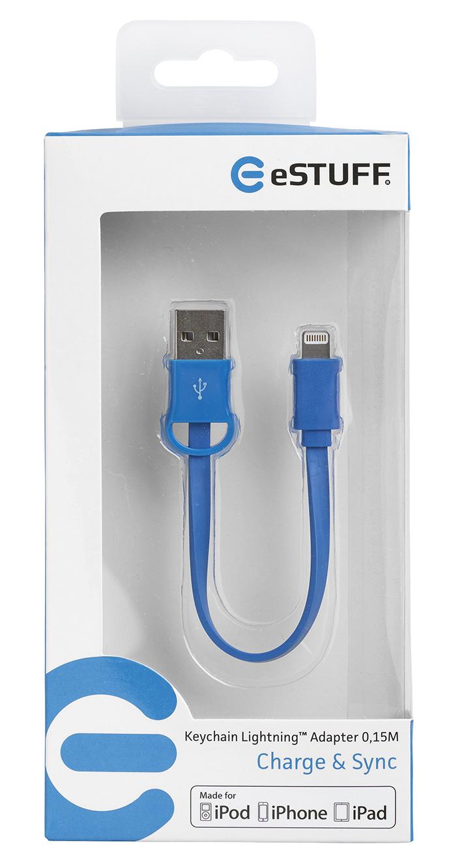 eSTUFF USB 2.0 kábel Lightning MFI - 15 cm - prívesok na kľúče ... 667e356b500