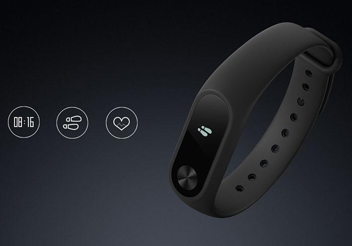 Xiaomi Mi Band 2 - Inteligentný fitness náramok - čierný