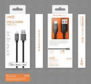 LAB.C Lightning Sync & Charge Cable A.L. 1,2 m - White Silver