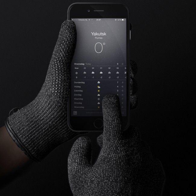 8d45dd085c4 ... MUJJO Dvouvrstvé dotykové rukavice pre SmartPhone - veľkosť L - čierne  ...