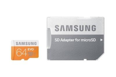 Pamäťová karta Samsung EVO microSDXC 64GB class 10 + adaptér SDHC